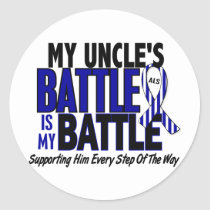 ALS My Battle Too 1 Uncle Classic Round Sticker