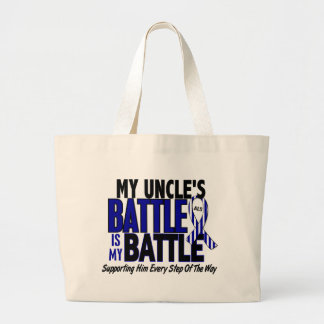 ALS My Battle Too 1 Uncle Large Tote Bag