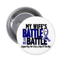ALS My Battle Too 1 Wife Pinback Button