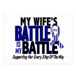 ALS My Battle Too 1 Wife Postcard