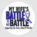 ALS My Battle Too 1 Wife Sticker