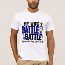 ALS My Battle Too 1 Wife T-Shirt