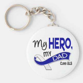 ALS My Dad My Hero 42 Keychain