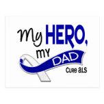 ALS My Dad My Hero 42 Postcard