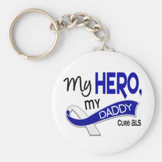 ALS My Daddy My Hero 42 Keychain