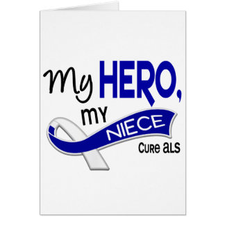 ALS My Niece My Hero 42 Greeting Card
