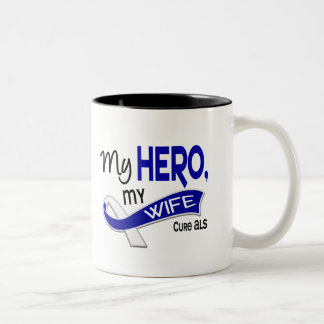 ALS My Wife My Hero 42 Two-Tone Coffee Mug