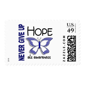 ALS Never Give Up Hope Butterfly 4.1 Stamps