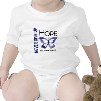 ALS Never Give Up Hope Butterfly 4.1 Baby Bodysuit
