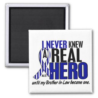 ALS Never Knew A Hero 2 Brother-In-Law 2 Inch Square Magnet