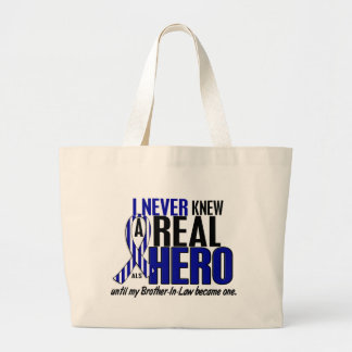 ALS Never Knew A Hero 2 Brother-In-Law Large Tote Bag