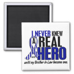 ALS Never Knew A Hero 2 Brother-In-Law Fridge Magnet