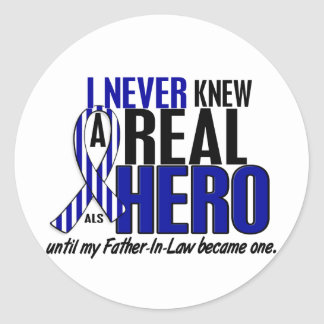 ALS Never Knew A Hero 2 Father-In-Law Classic Round Sticker