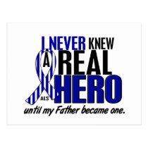 ALS Never Knew A Hero 2 Father Postcard