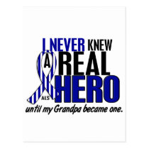 ALS Never Knew A Hero 2 Grandpa Postcard