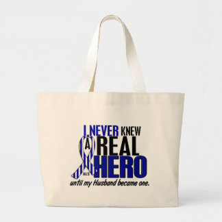 ALS Never Knew A Hero 2 Husband Large Tote Bag