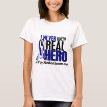 ALS Never Knew A Hero 2 Husband T-Shirt