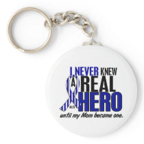 ALS Never Knew A Hero 2 Mom Keychain