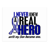 ALS Never Knew A Hero 2 Son Postcard