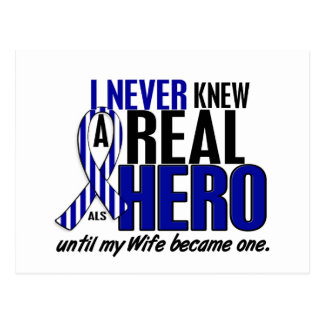ALS Never Knew A Hero 2 Wife Postcard