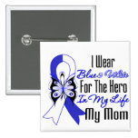ALS Ribbon Hero in My Life My Mom Pinback Button