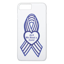 ALS Ribbon: We Need a Cure iPhone 7 Plus Case