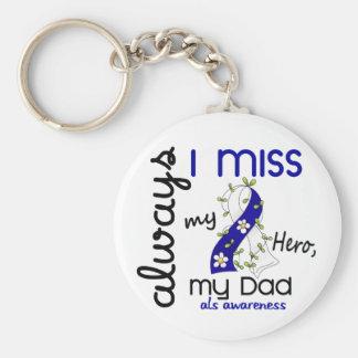 ALS siempre yo Srta. My Dad 3 Llavero Personalizado