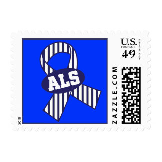 ALS Striped Awareness Ribbon Support Stamps