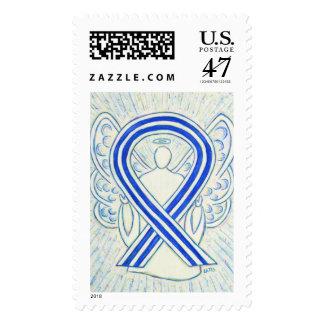 ALS Stripes Awareness Ribbon Angel Postage Stamps