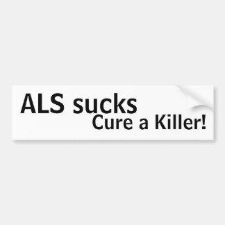 ALS sucks, cure a killer! Bumper Sticker
