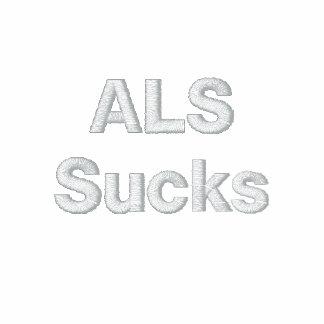 ALS Sucks Embroidered Hooded Sweatshirts