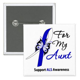 ALS Support For My Aunt 2 Inch Square Button
