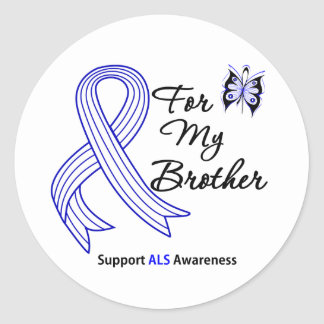 ALS Support For My Brother Classic Round Sticker