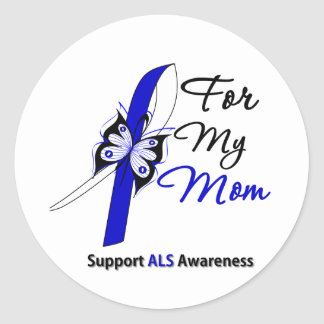 ALS Support For My Mom Round Stickers
