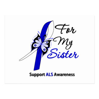 ALS Support For My Sister Postcard