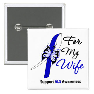 ALS Support For My Wife 2 Inch Square Button