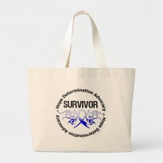 ALS Survivor Tribal Ribbon Jumbo Tote Bag