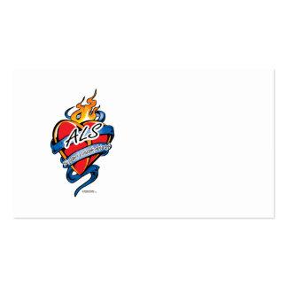 ALS Tattoo Heart Business Card