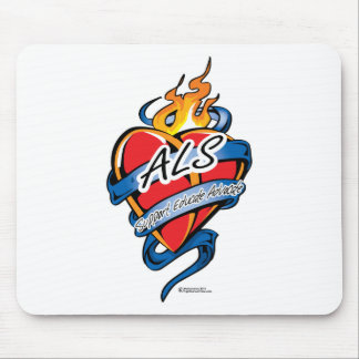 ALS Tattoo Heart Mouse Pad