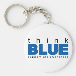 ALS Think Blue Keychain