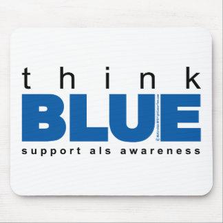 ALS Think Blue Mouse Pad
