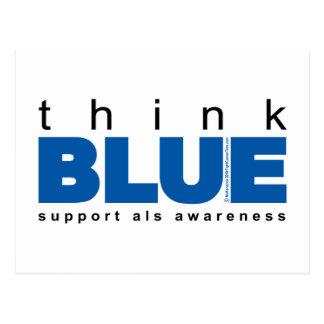ALS Think Blue Postcard