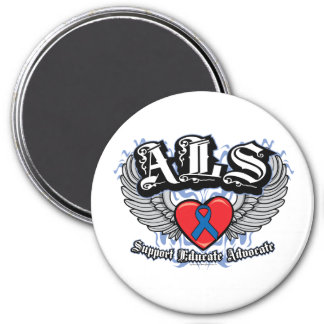 ALS Wings 3 Inch Round Magnet