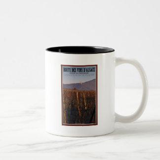 Alsace - Château de l'Ortenbourg Road Two-Tone Coffee Mug