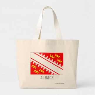 Alsace flag with name tote bags