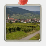 Alsace, France Square Metal Christmas Ornament