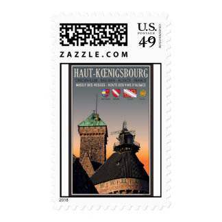 Alsace - Haut Koenigsbourg Postage Stamp