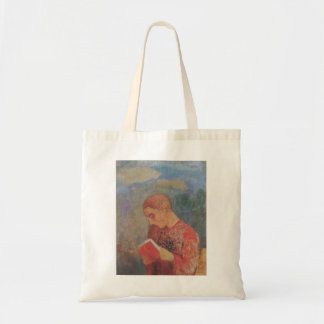 Alsace or reading monk by Odilon Redon Canvas Bag