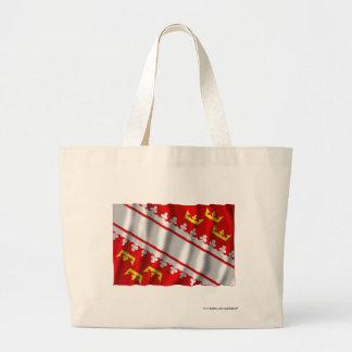 Alsace waving flag canvas bag