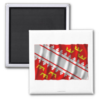Alsace waving flag 2 inch square magnet